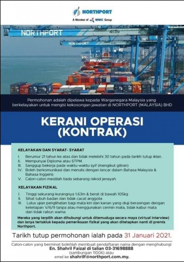 Iklan Jawatan Kosong - Northport (Malaysia) Berhad » Jobs Hub