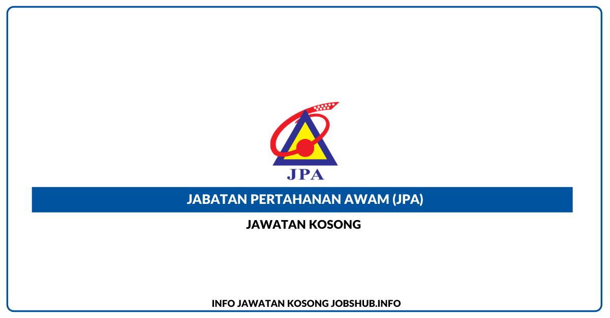 Jawatan Kosong Jabatan Pertahanan Awam (JPA) » Jobs Hub