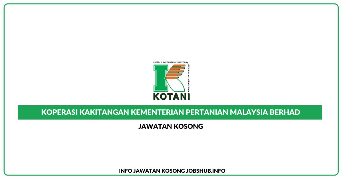Jawatan Kosong Koperasi Kakitangan Kementerian Pertanian ...